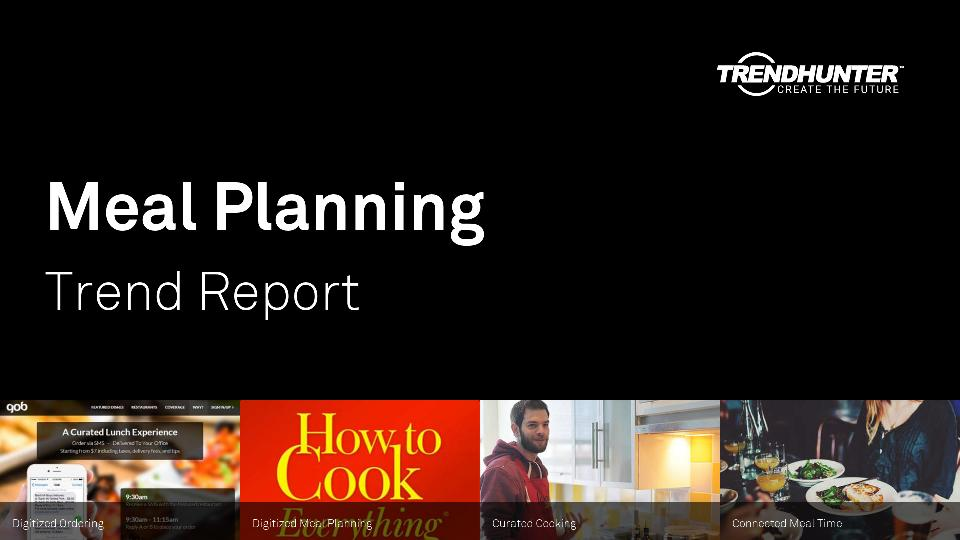 Meal Planning Trend Report Research