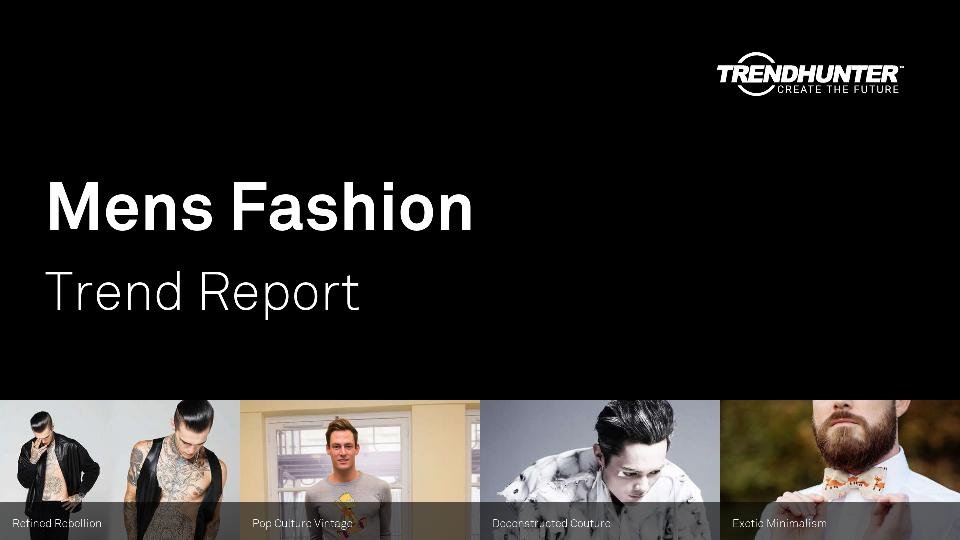 Mens Fashion Trend Report Research