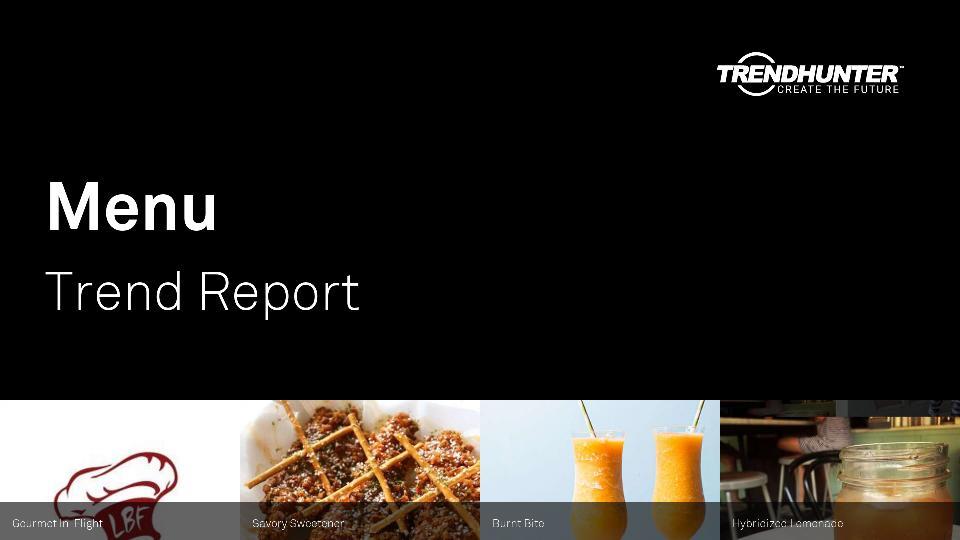 Menu Trend Report Research