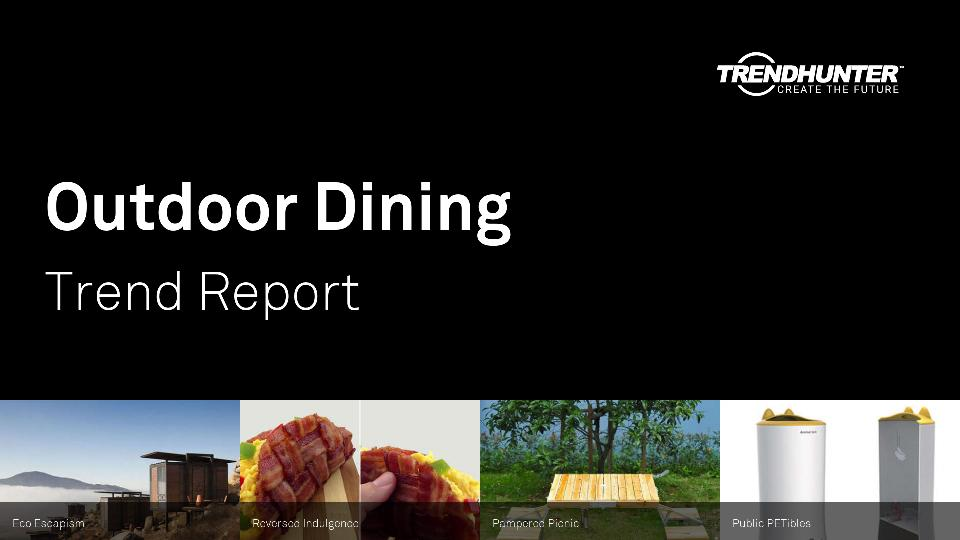 Outdoor Dining Trend Report Research