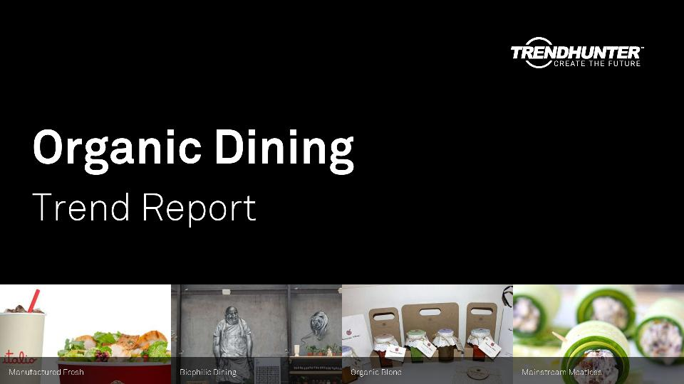 Organic Dining Trend Report Research