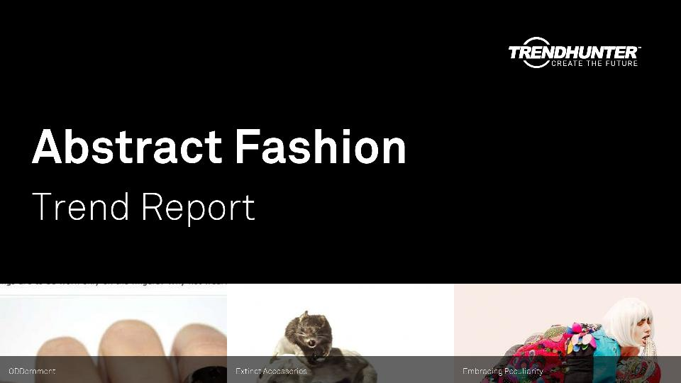 Abstract Fashion Trend Report Research