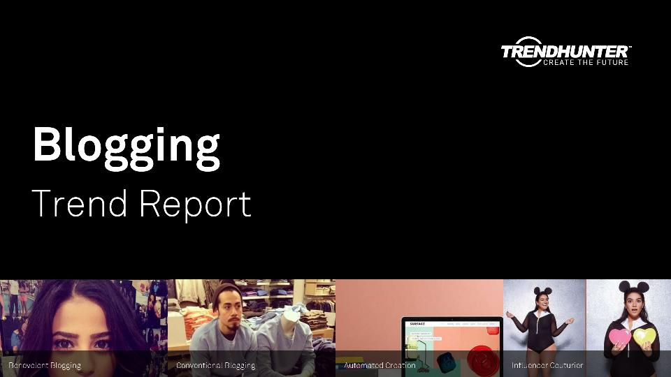 Blogging Trend Report Research