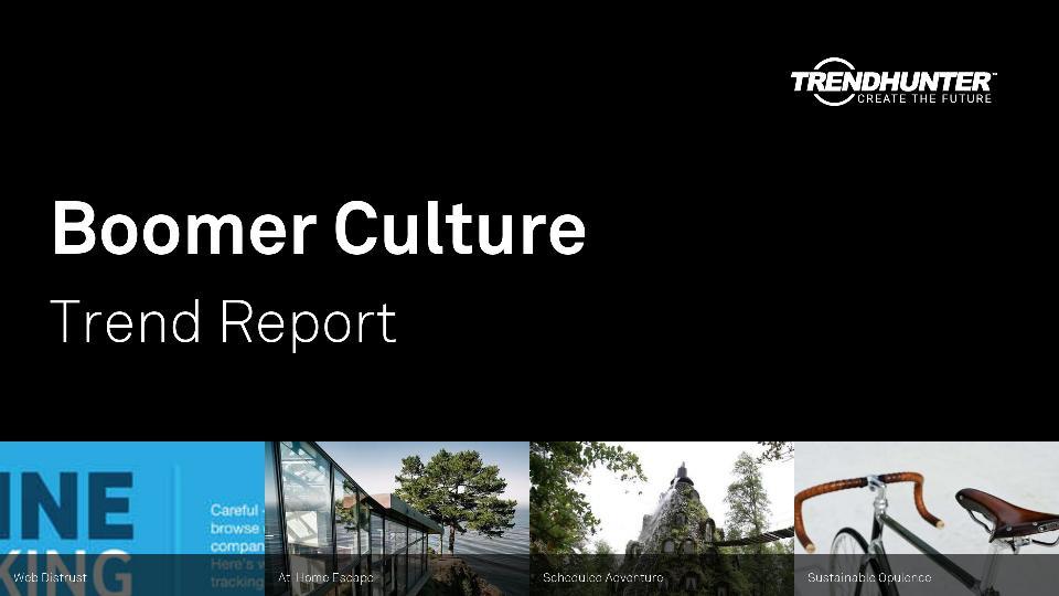 Boomer Culture Trend Report Research