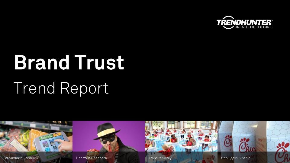 Brand Trust Trend Report Research