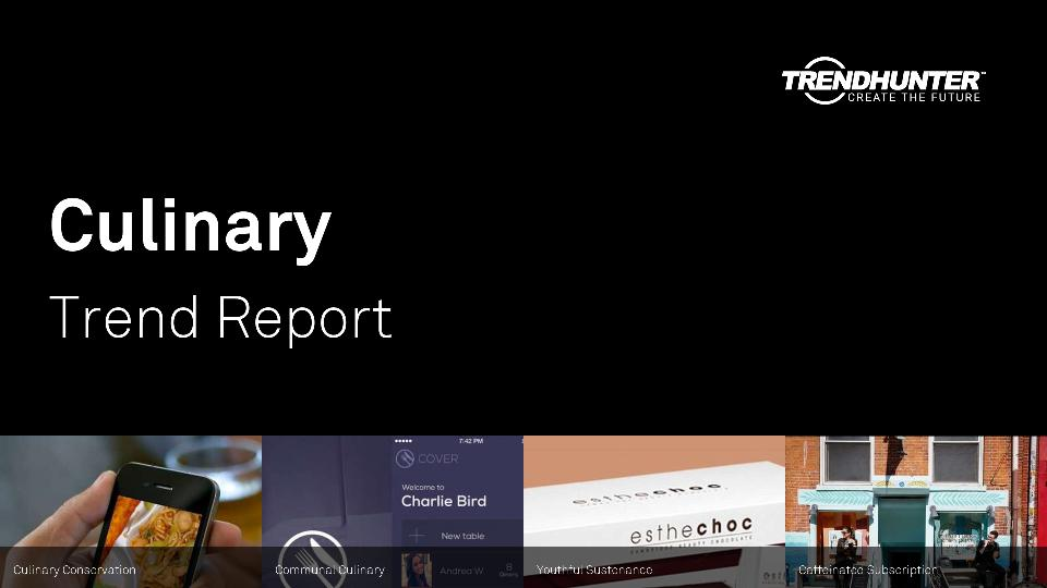 Culinary Trend Report Research