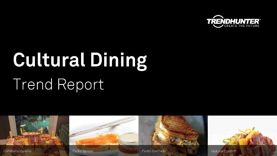 Cultural Dining Trend Report Research