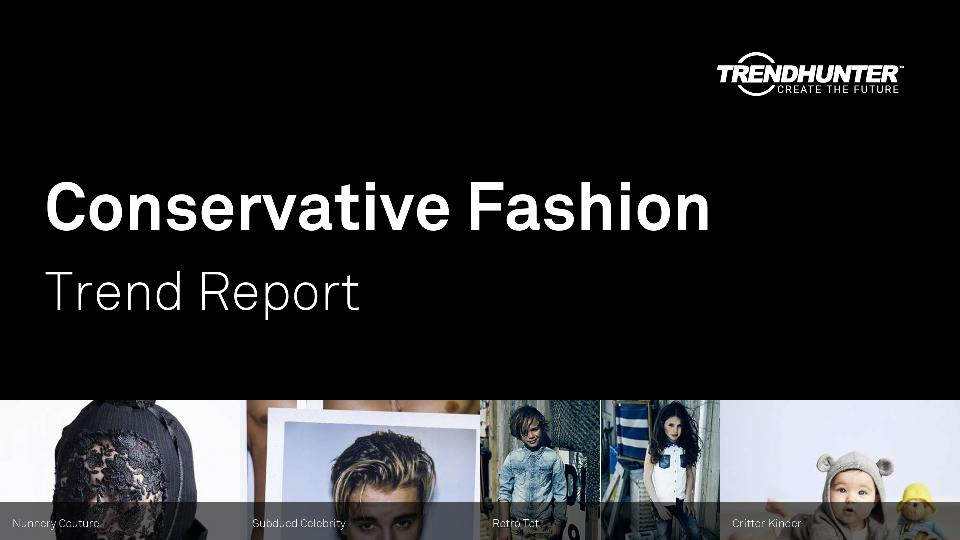 Conservative Fashion Trend Report Research