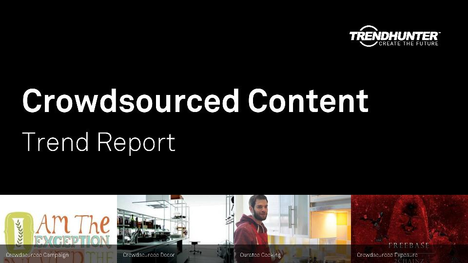 Crowdsourced Content Trend Report Research