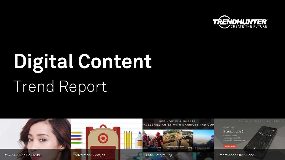 Digital Content Trend Report Research