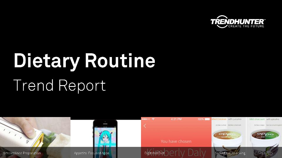 Dietary Routine Trend Report Research