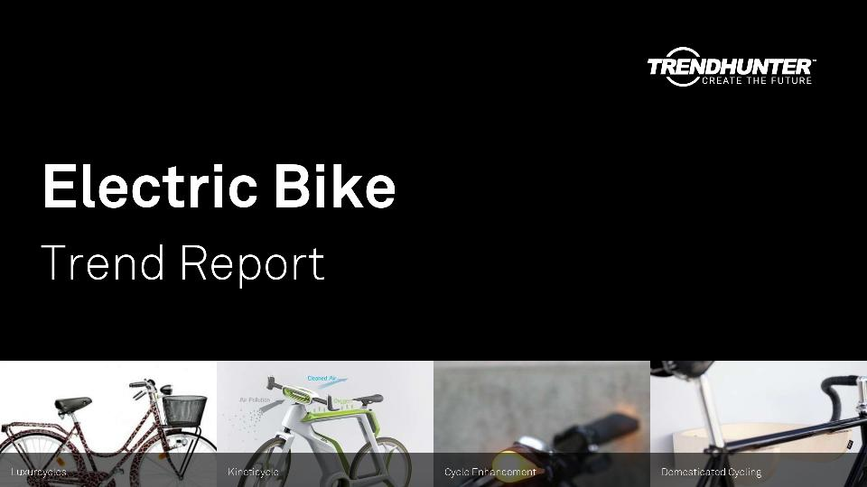 Electric Bike Trend Report Research