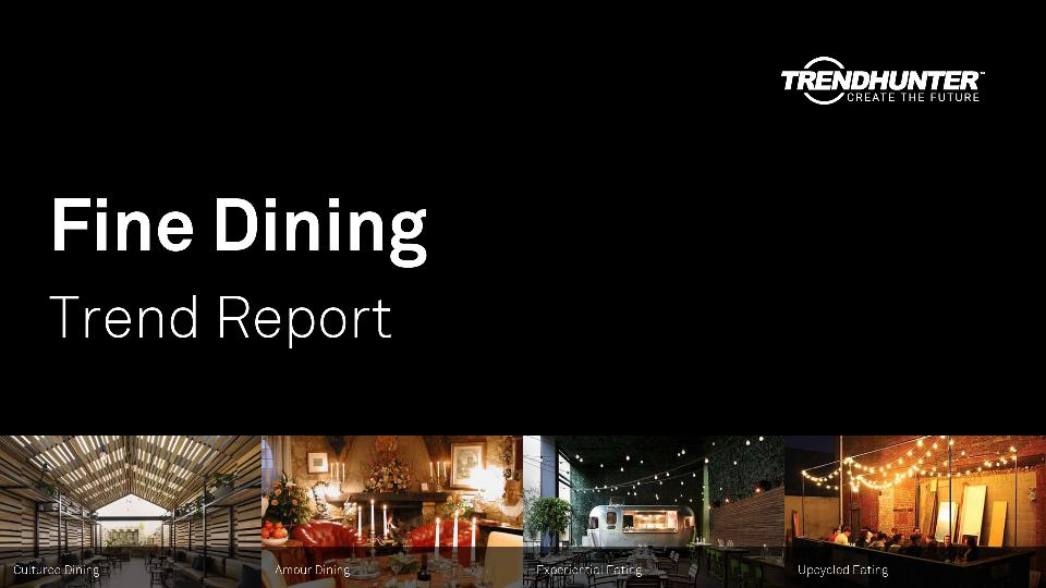 Fine Dining Trend Report Research