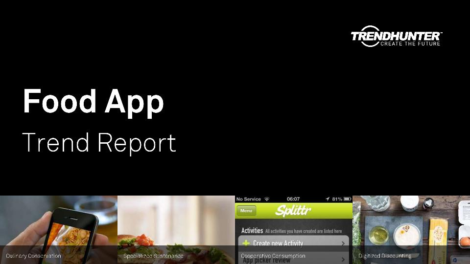 Food App Trend Report Research