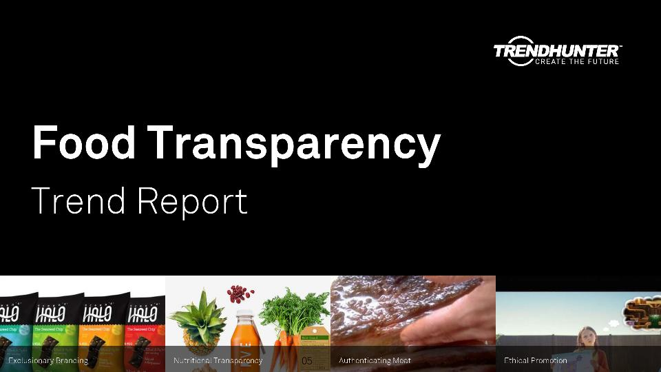 Food Transparency Trend Report Research