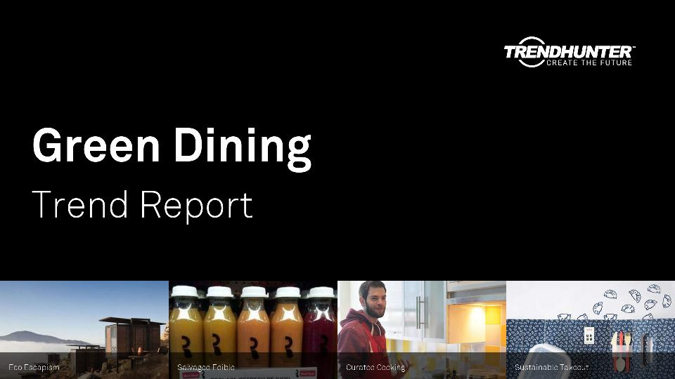 Green Dining Trend Report Research