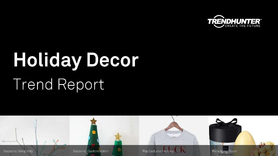 Holiday Decor Trend Report Research