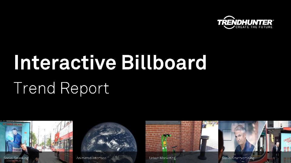 Interactive Billboard Trend Report Research