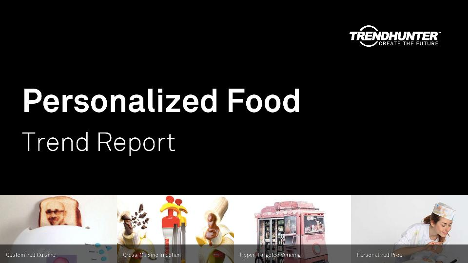 Personalized Food Trend Report Research