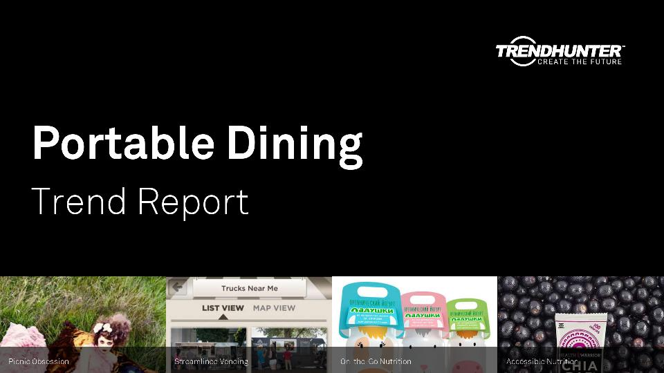 Portable Dining Trend Report Research