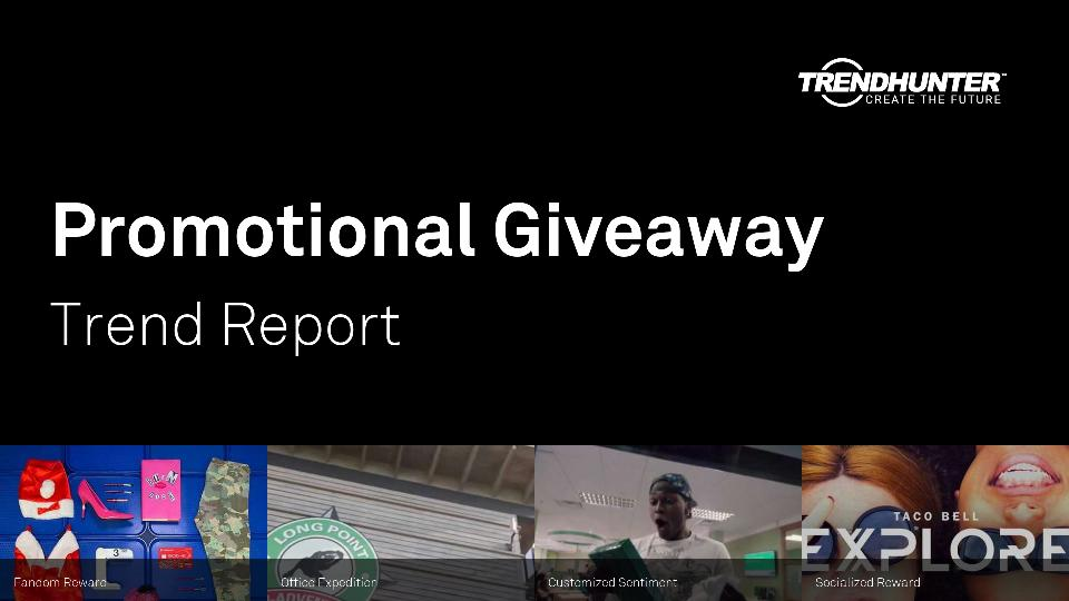 Promotional Giveaway Trend Report Research