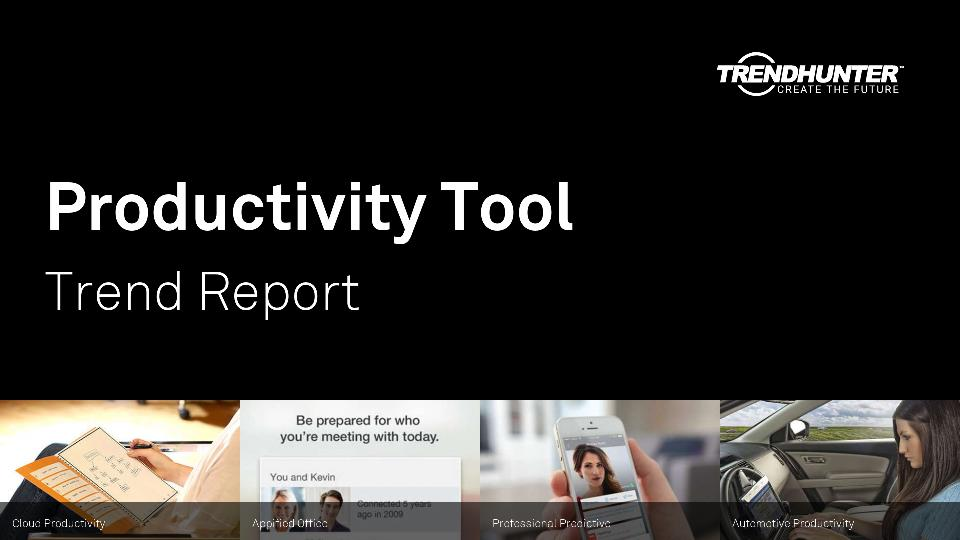 Productivity Tool Trend Report Research