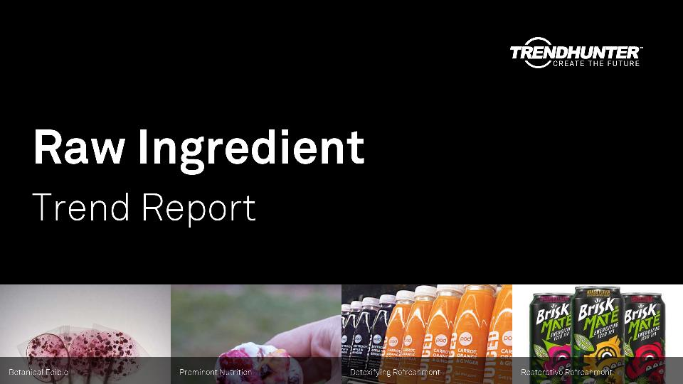 Raw Ingredient Trend Report Research
