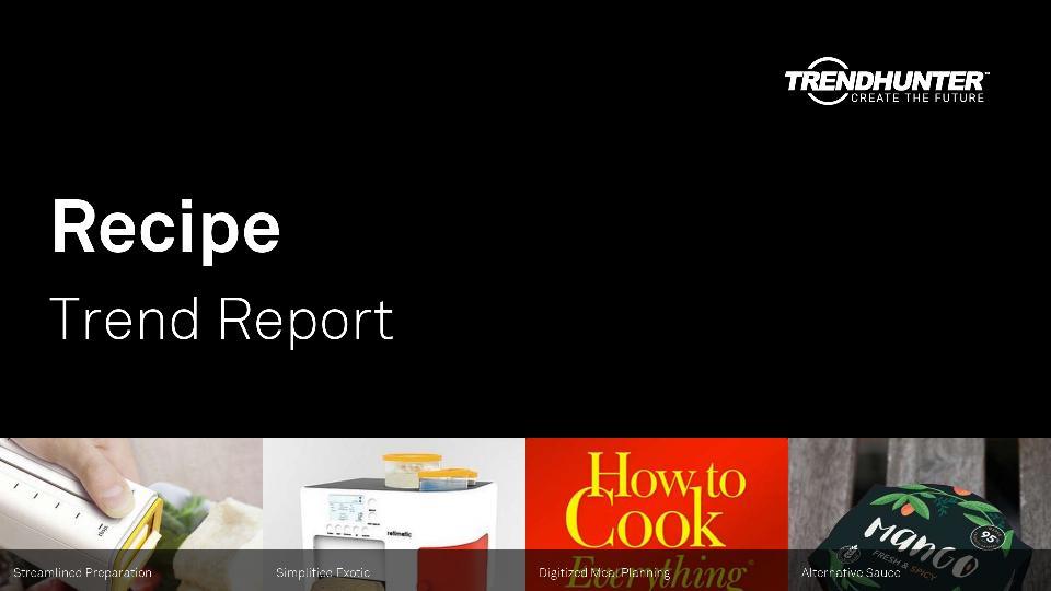 Recipe Trend Report Research