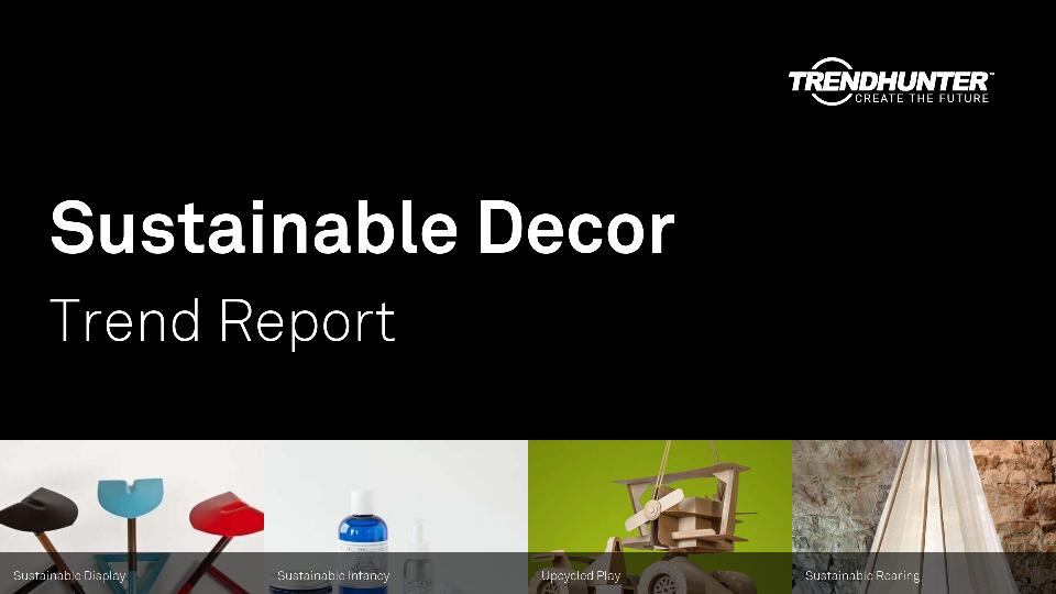 Sustainable Decor Trend Report Research