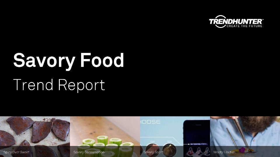 Savory Food Trend Report Research