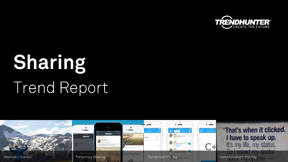 Sharing Trend Report Research