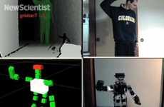 Hacked Kinect Robots
