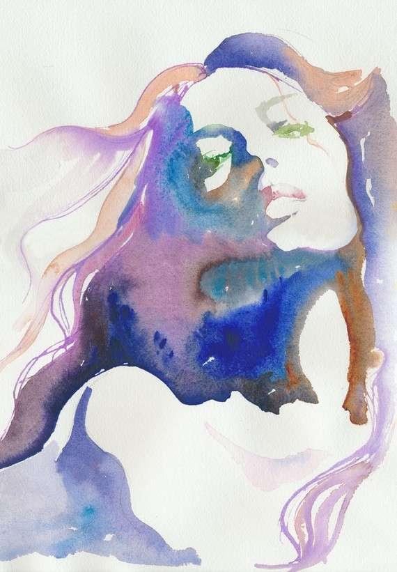 Sensual Watercolor Illustrations
