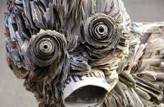 Detailed Newspaper Sculptures