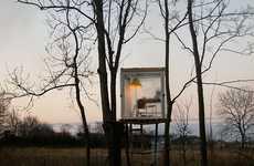Transparent Treetop Cubes