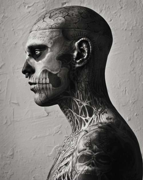 Skeletal Tattooed Editorials