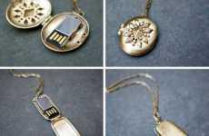 Delicate Flash Drive Necklaces