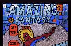 Stained Glass Comic Covers