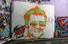 Paint Gun Graffiti Portraits