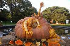 Monstrous Pumpkin Sculptures
