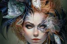 Flora-Infused Female Paintings