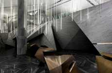 Exaggerated Angular Interiors