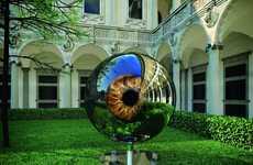 Reflective Eyeball Sculptures