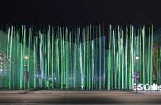 Illuminated Grass Installations