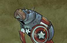 Hilarious Comic Hero Manatees
