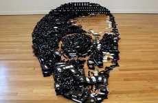 Skeletal VHS Sculptures