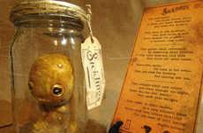 Jar-Trapped Specimen Sculptures