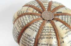 Newspaper Printed Pumpkins