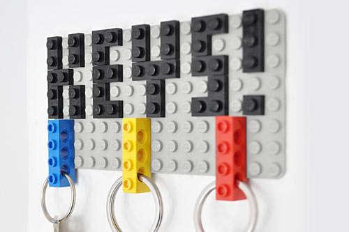 DIY LEGO Key Hangers