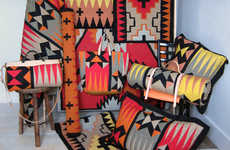 Bold Tribal-Print Mats